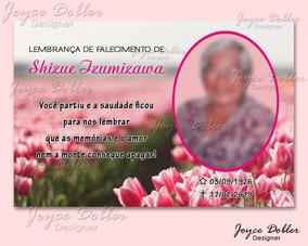 Lembrança De Falecimento 10x15 Cm - Arte Digital