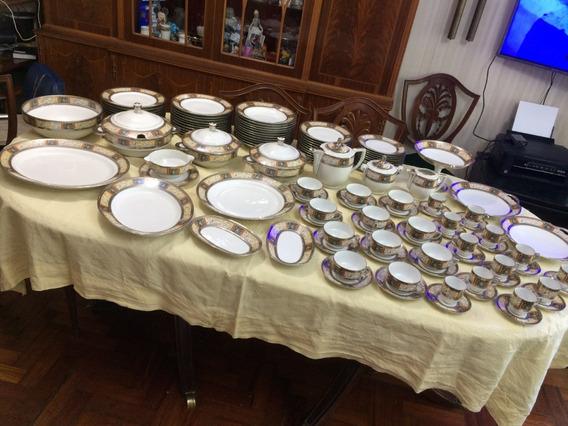 Juego Vajilla Antigua Porcelana Limoges Francia 118 Piezas