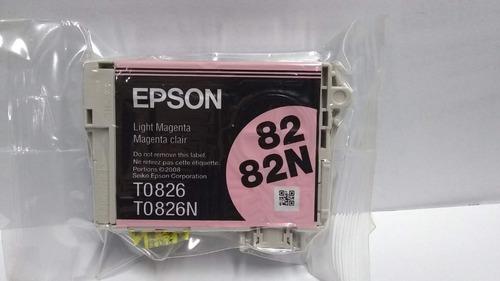 Imagen 1 de 2 de Cartucho Epson 82 82n Magenta Claro Original En Blister