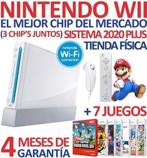 Excelente Consola Nintendo Wii +chip 2020 +7 Sorpresas (60v)