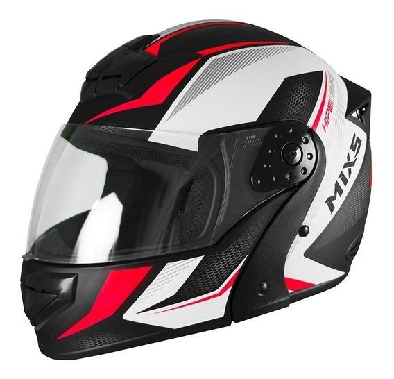 Capacete para moto escamoteável Mixs Gladiator Neo Fosco vermelho tamanho 62