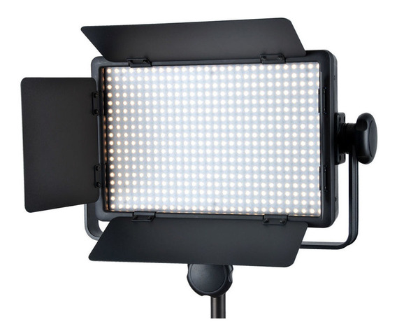 Luz contínua tipo painel Godox LED500 branca-quente/branca-fria