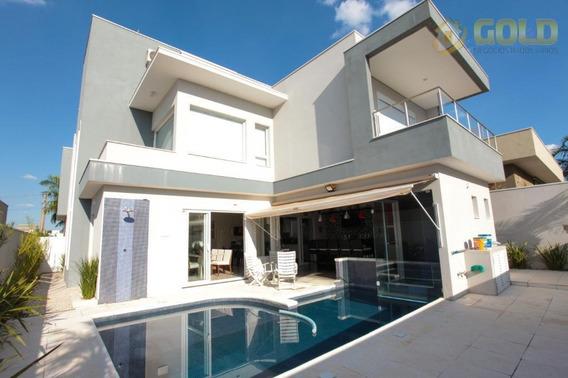 Sobrado Com 3 Dormitórios À Venda, 324 M² Por R$ 1.500.000 - Condomínio Terras Do Cancioneiro - Paulínia/sp - So0185