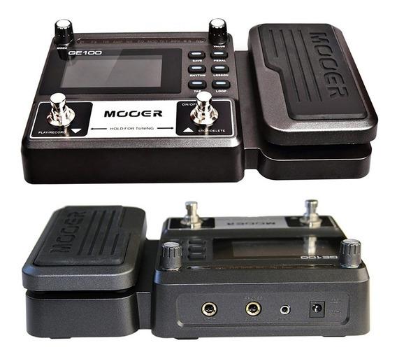 Pedaleira Multi-efeitos Guitarra Ge100 Mooer Looper + Fonte