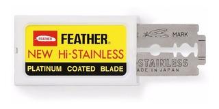 Hojas De Afeitar Doble Filo Feather Platinum Japonesas
