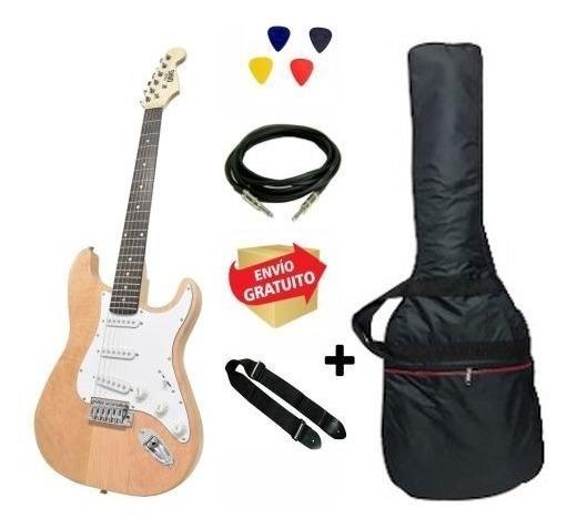 Guitarra Eléctrica Strato Onas Funda Correa Cable Nt Envio