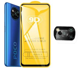 Película Xiaomi Poco X3 6.67 Full Glue + Pelicula Camera