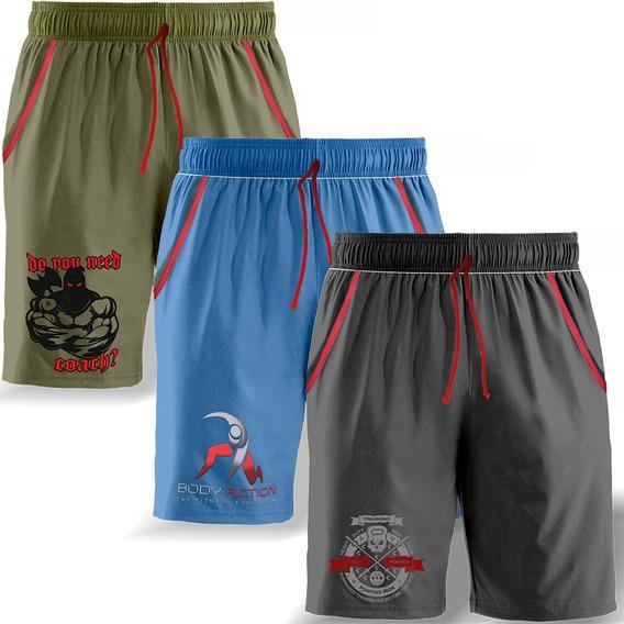 Triple Training Pack Bermudas Pantalon Verano Genetic