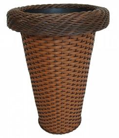 Vaso De Planta Sintético Redondo 37x20x51 Indiano