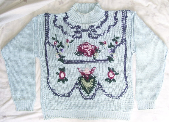 Sweater Manga Larga Tejido Calentito Para Frío Talla 10 (m)