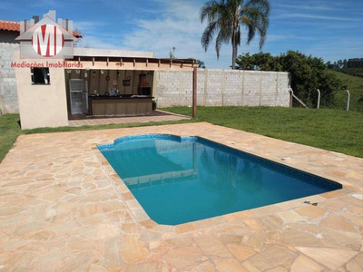 Chácara Com 3 Dormitórios À Venda, 1000 M² Por R$ 250.000 - Rural - Socorro/sp - Ch0388