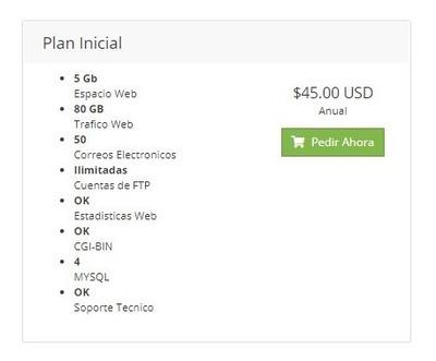 Alojamiento Web: Plan Inicial