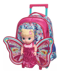 Mochila Com Rodinhas Baby Alive Butterfly - Grande - Pacifc
