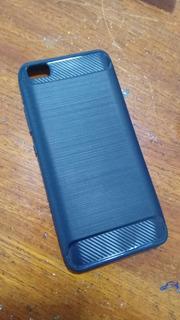 Capa Para Xiaomi Mi 5 Anti Impacto Com Detalhes Carbon Fiber