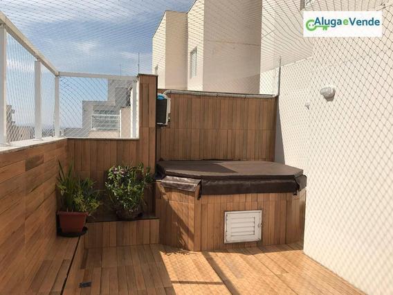 Apartamento Duplex Com 3 Dormitórios, 2 Suítes E 4 Vagas De Garagem, À Venda No Condomínio Supera 136 M² Por R$ 760.000 - Vila Augusta - Guarulhos/sp - Ad0006