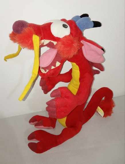Boneco Pelúcia Mushu - Dragão Mulan Disney 38cm Raro Barato!