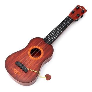 Guitarra Ukelele Infantil Simil Madera 48 Cm Juguete Niño