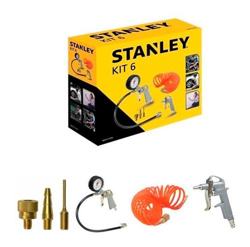 Kit De 6 Piezas Para Compresor Stanley 9045717stc