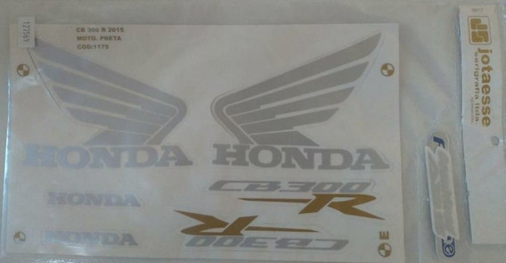 Faixa Adesivo Completo Honda Cb 300r Preto 2015 - 15
