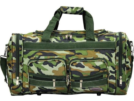 Sacola Bolsa De Viagem Camuflada Militar Pequena Ampla