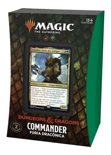 Imagem 1 de 8 de Deck Commander D&d Magic The Gathering Fúria Dracônica