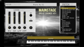 Great Sounds Mainstage Patches Vol 01 + Mainstage 3.3.2