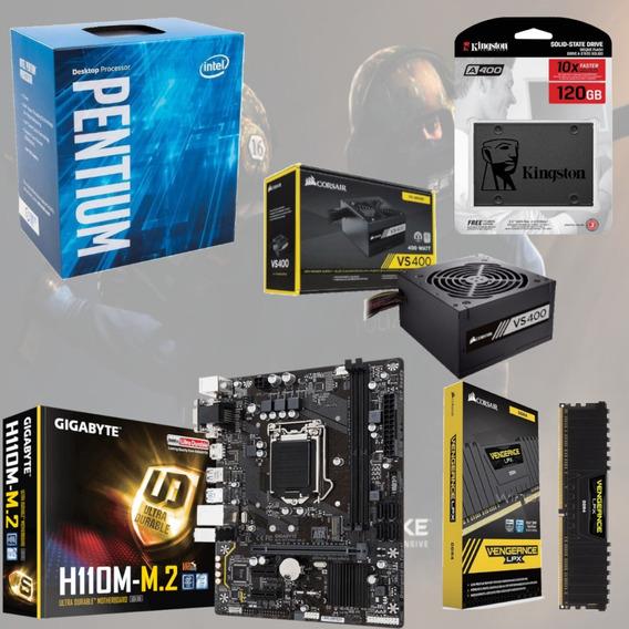 Kit Pentium G4560 + Mb H110m M2 + Vg 4gb + Vs400 + Ssd 120gb