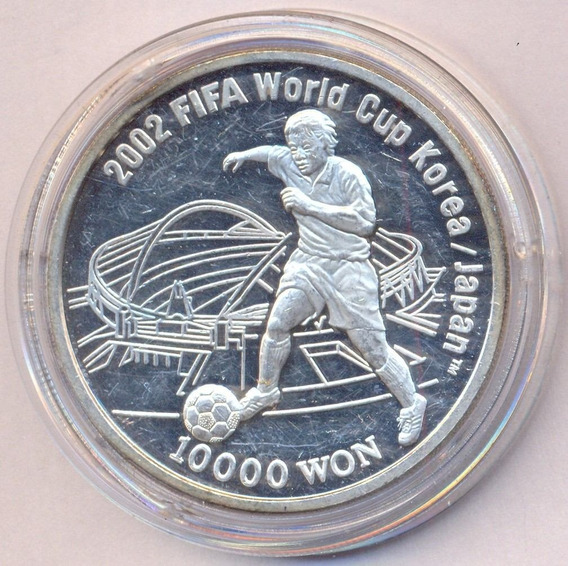 Moneda Onza De Plata 999 Corea Del Sur 2001 Estadio Daegu