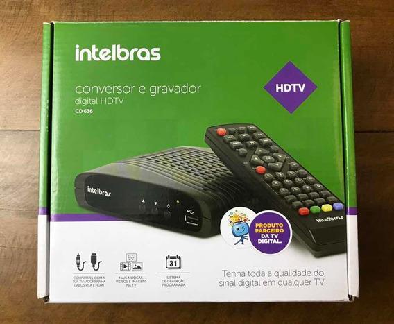 Conversor E Gravador Digital Hdmi Intelbras + Antena Externa