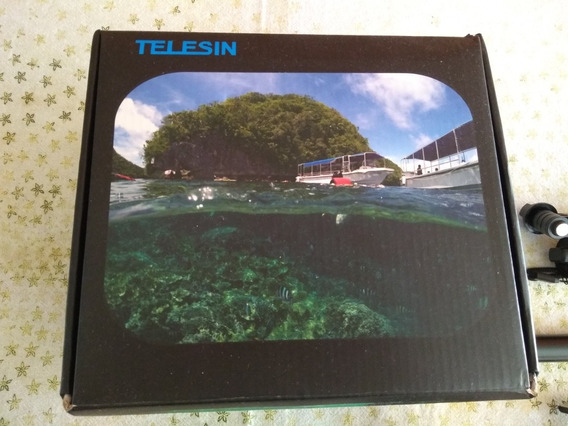 Kit Gopro Dome Telesin + Monopod + Tripé + Carregador Duplo