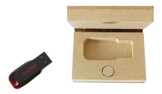 5 Lembrancinhas Case Pen Drive Mdf Cru 0932