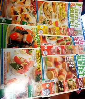 Lote De 6 Revistas Lunch & Buffet Cocina Facil Bienvenidas