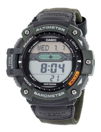 Relógio Casio Altímetro Barômetro E Termômetro - Novo