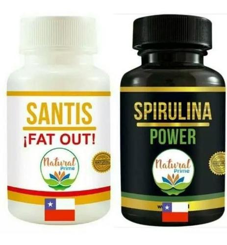 Pastillas Santis ¡fat Out! + Spirulina Power Espirulina