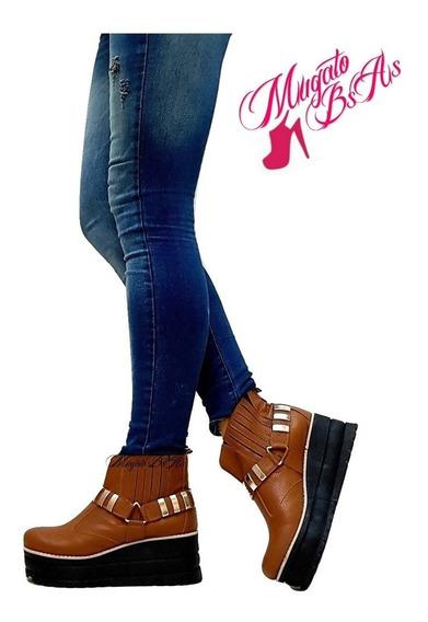 Zapatos Botas Botinetas Alpìnos Con Plataforma Mugato-bsas®