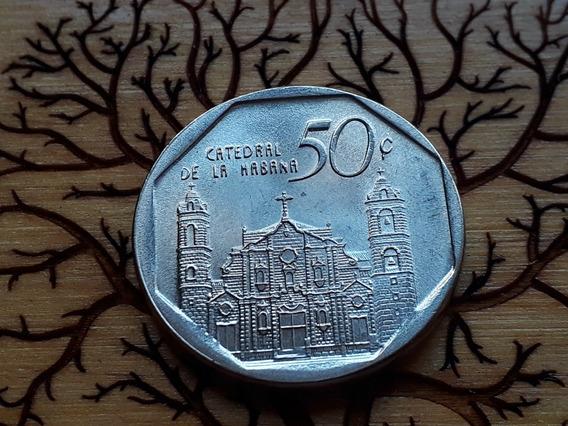 Moneda Cuba 50 Centavos 2016 A. Bañado Níq S/circular L107