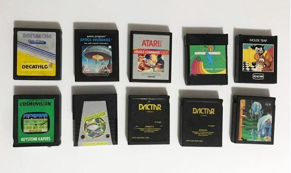 Lote 3 Jogos Atari 2600 À Escolher Frogger, Space, Keystone.