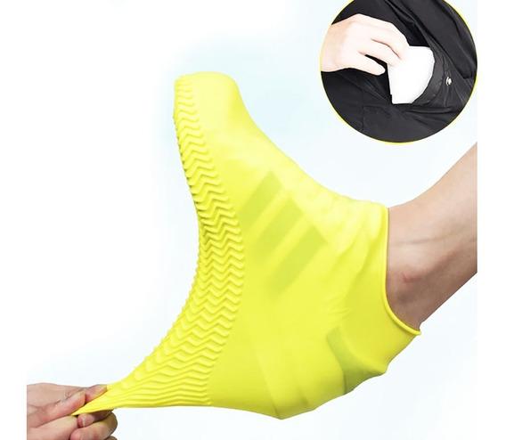 Protector De Zapatos Impermeable De Silicón Para Lluvia