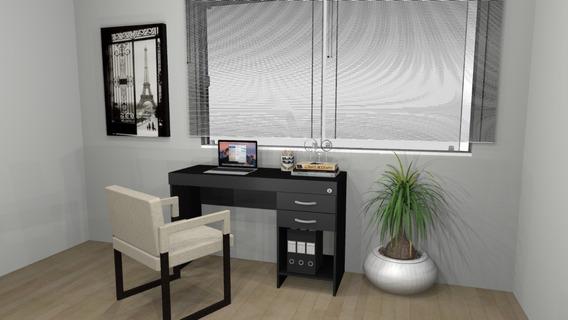 Mesa Escritório, Escrivaninha Mesa Home Office 2 Gavetas