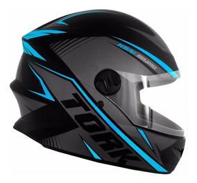 Capacete De Moto Pro Tork New Liberty Four R8 Azul Claro 58