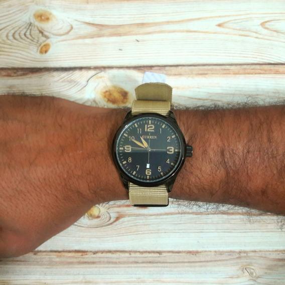 Relógio Militar Curren 8195 (tan E Preto)