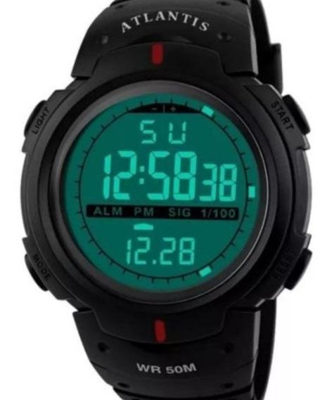 Relógio G Digital Atlantis Sport Militar Shock Prova D
