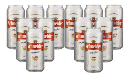 Cerveza Schneider Rubia Lata 473 Ml X 12 Unidades