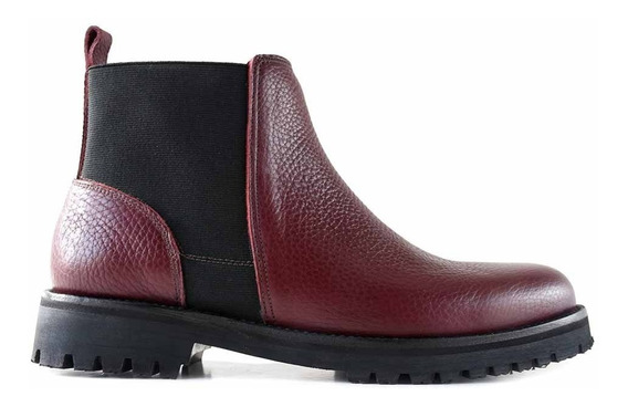 Bota Botineta Mujer Cuero Briganti Negro Zapato - Mcbo24879