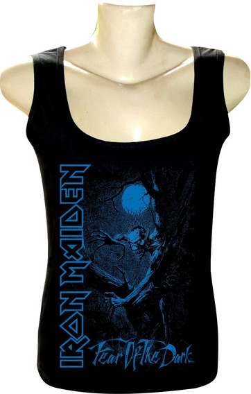 Camiseta Regata Feminina Iron Maiden Bandas Rock If4