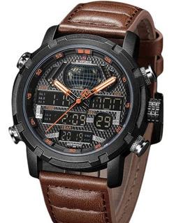 Reloj Naviforce 9160 Nmcn Deportivo Alarma Cronometro Cuero