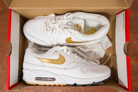 Zapatillas Nike Air Max 90 Blancas Dorado