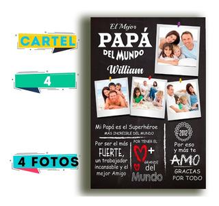 Cuadro De Madera Personalizado Estilo Pizarra Feliz Día Papá