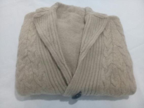 Saco Tejido De Lana Abrigo Con Botones Cuello V Talle 4 Año