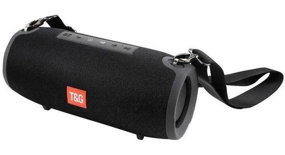 Caixa De Som Bluetooth Tg-118 Grande Com Alça